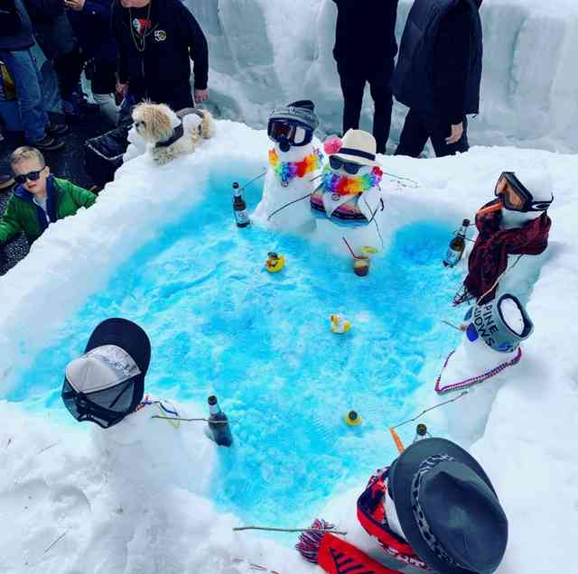 Snow Sculpture Contest Hot Tub 2019 BobbyKelly