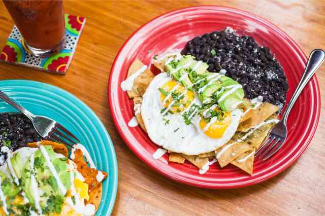 green chilaquiles