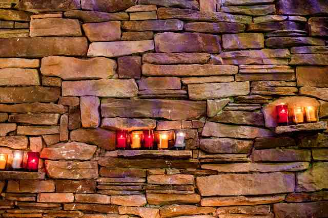 interio wall with candles