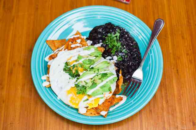 red chilaquiles
