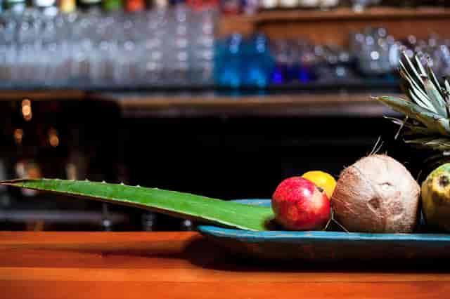 assorted fruit at bar