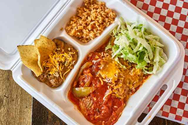 chili relleno meal