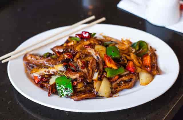 spicy Chinese pork dish