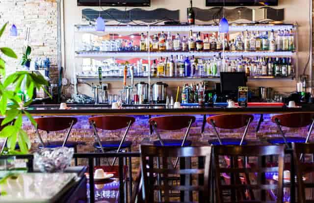 bar with lights