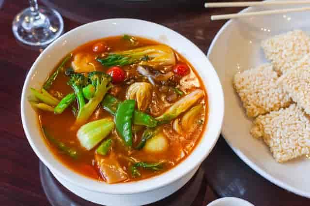 Szechuan veggie soup