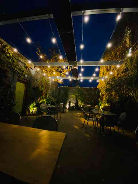 night patio
