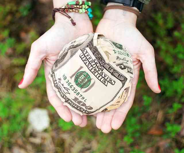 money in hands