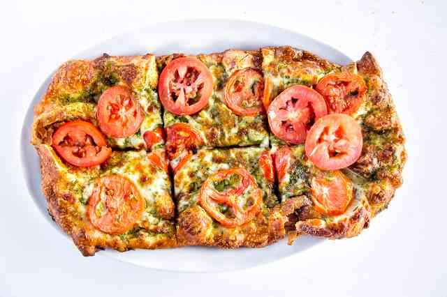 Flatbread with pesto