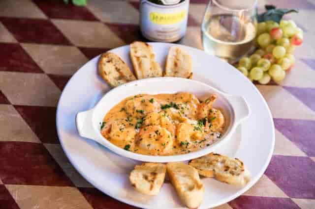w shrimp w/ wine