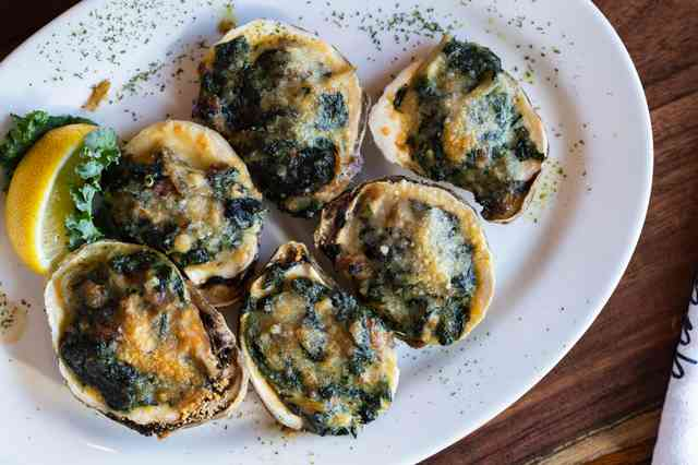 Oysters Rockefeller Christie's Seafood Houston Galleria