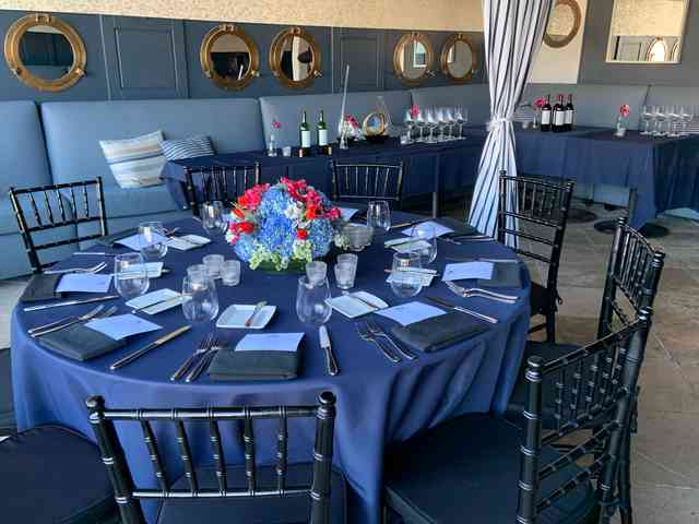 blue linen private dining