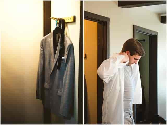 man getting ready