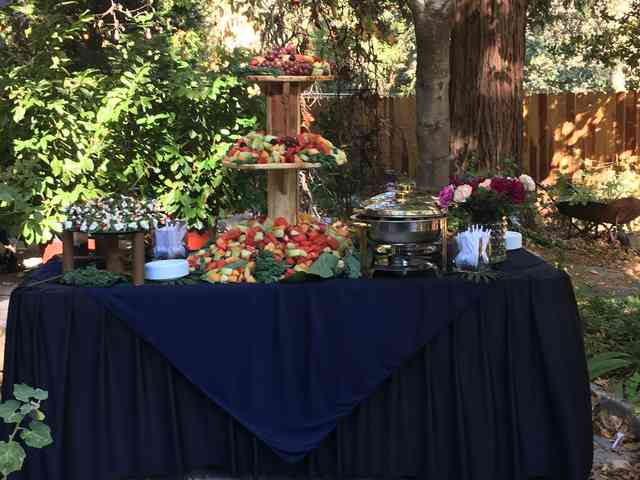 table of fruit