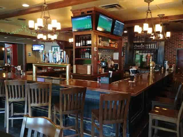 View of the bar at Keegans in Vinnings