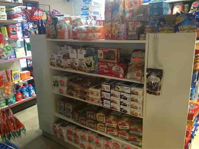 stocked shelves