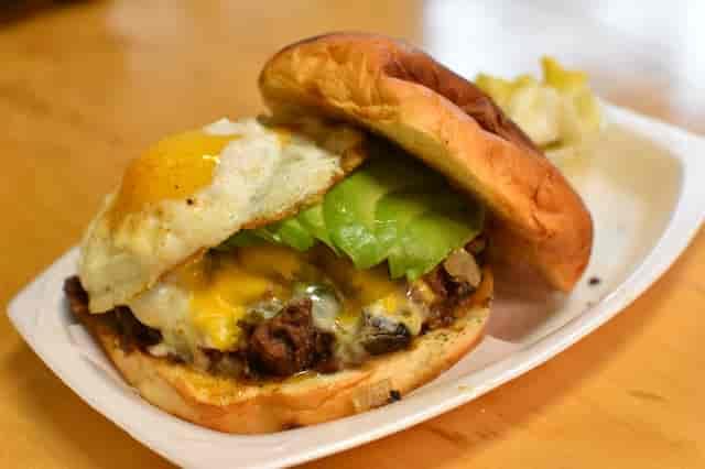 beef & egg sandwich