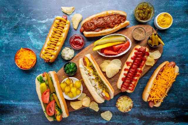 Cupid's hot dog spread
