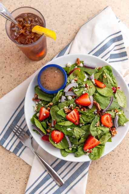 seasonal spinach salad