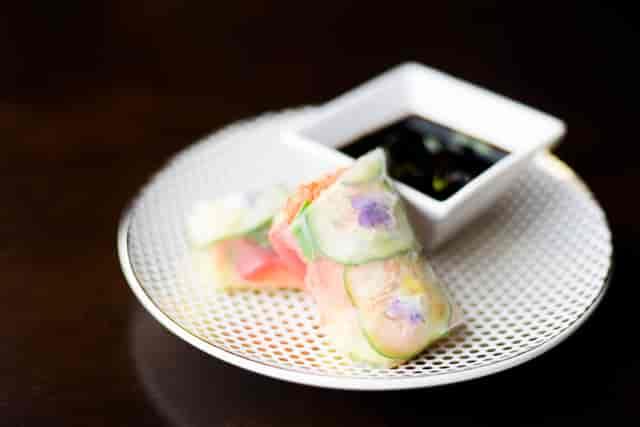 veggie rice paper rolls