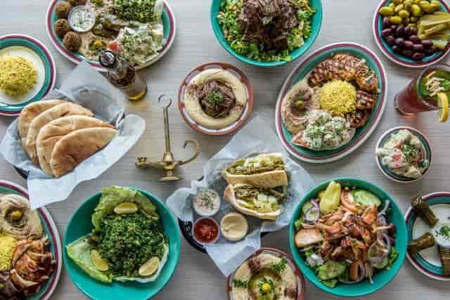 assorted mediterranean dishes