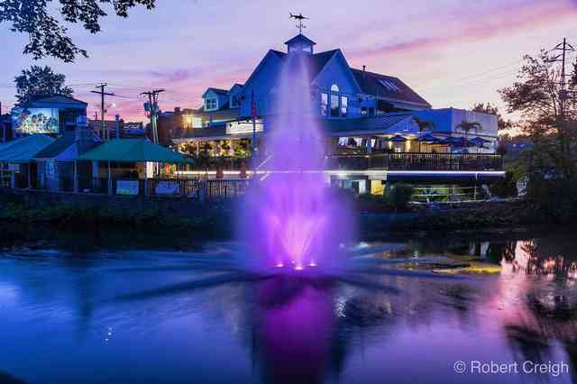 purple fountain photo