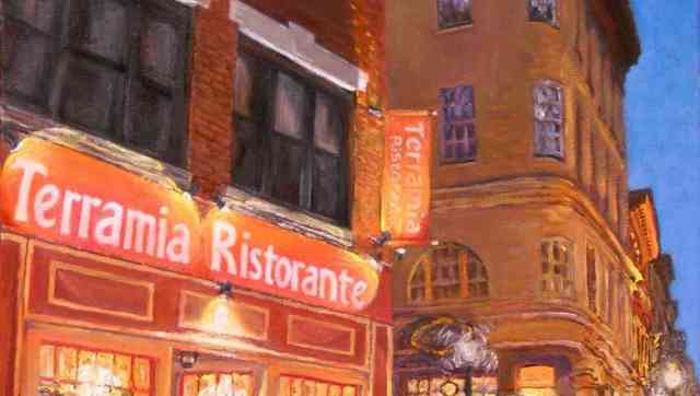"""Headed for Dinner at Terramia, North End"" Painting"