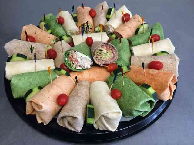 assorted wraps catering