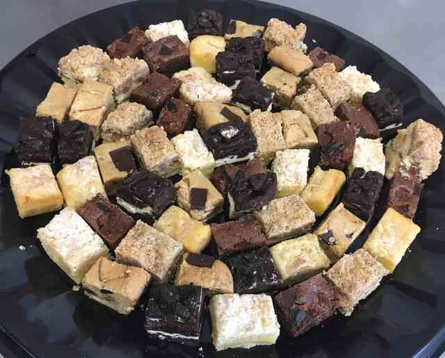 assorted catering desserts
