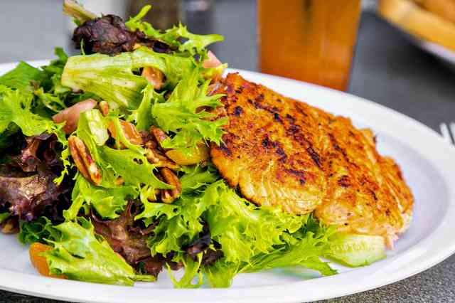 fall harvest salmon salad