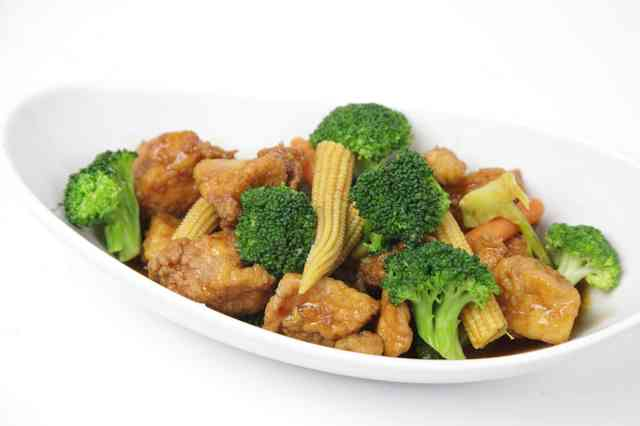 sweet chicken and veggies