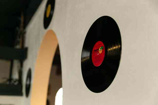 Records on wall