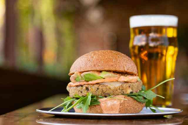 garden burger and beer