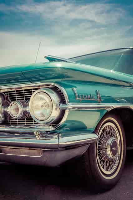 blue car exterior