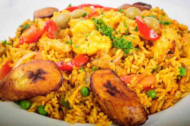 rice and plantain