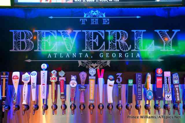 Beer taps at The Beverly Atlanta
