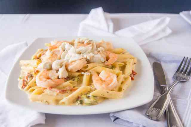 shrimp and crab penne
