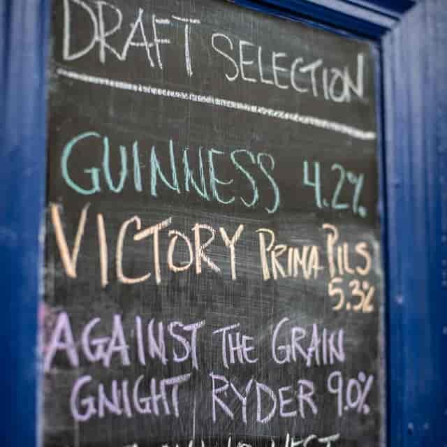 draft menu