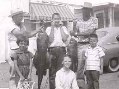 family with fish