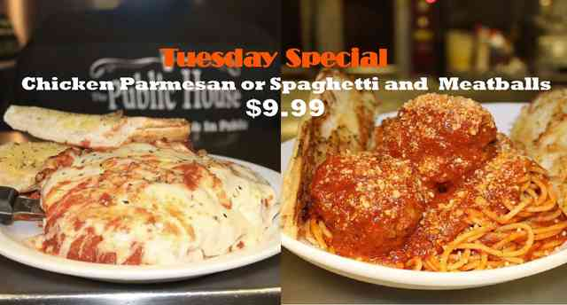 Chicken Parmesan or Spaghetti and meatballs