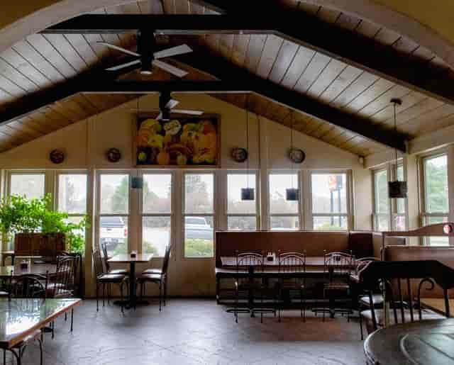 inside of restaurant