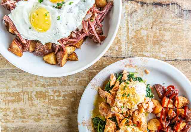 brunch potatoes and eggs