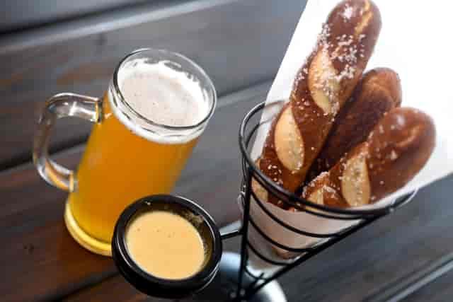 beer and pretzels