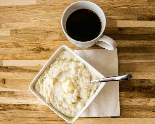 grits and coffee