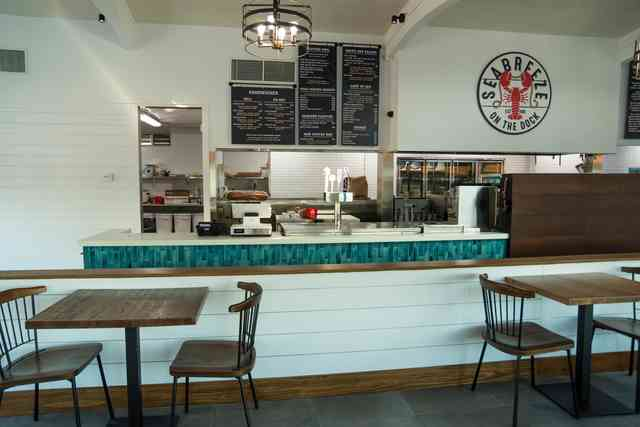 Seabreeze interior ordering counter and kitchen