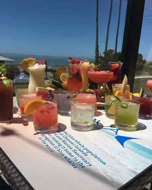 drinks by beach