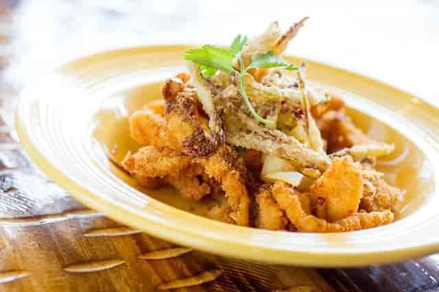 coconut crusted calamari