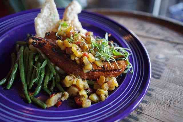 fish with corn salsa