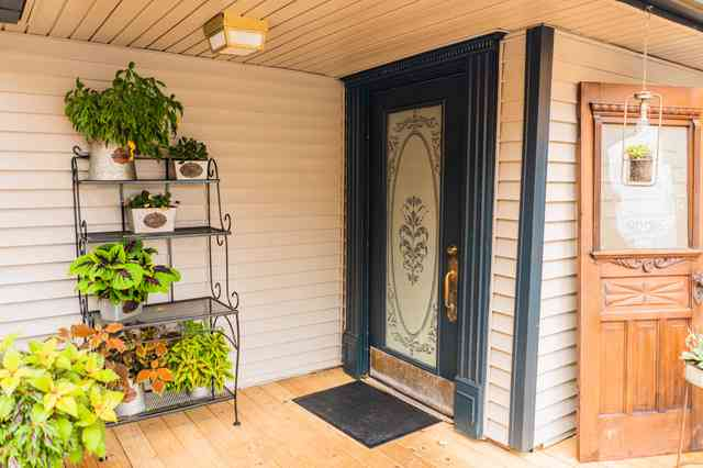 door and the porch