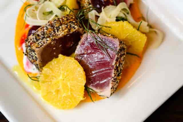 everything crusted tuna