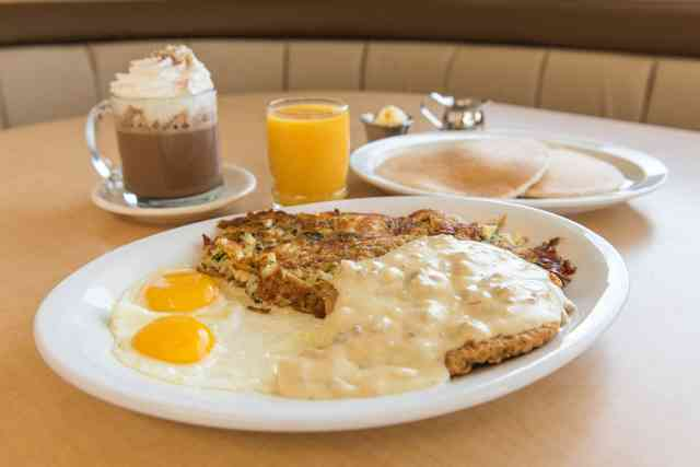 chicken fried steak and pancake